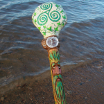 Celtic Triple Spiral Rattle