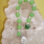 Prayer Beads – Wrist (Green w/ Guardian Angel)